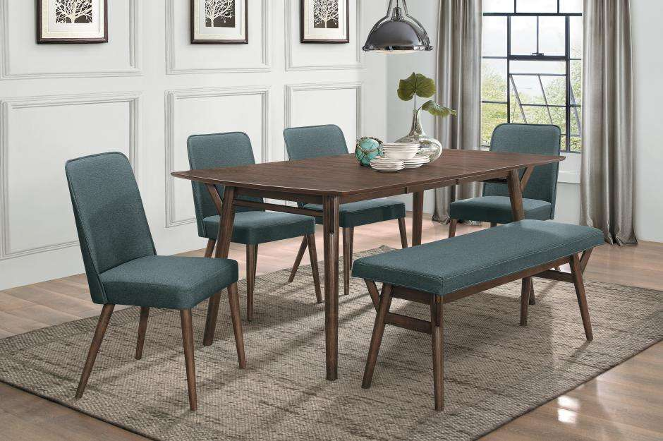 Groovy 5548 72 Dining Table 4 Chairs Bench Ncnpc Chair Design For Home Ncnpcorg