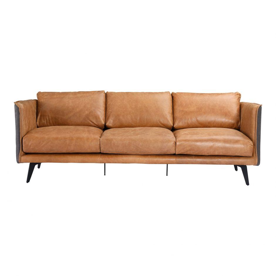 Messina Leather Sofa Cognac Savvy